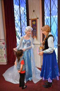 Princess Anna couldn't believe Emery had a white streak in her hair! Queen Elsa didn't know how it got there :)